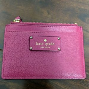 Kate Spade cardholder with zipper
